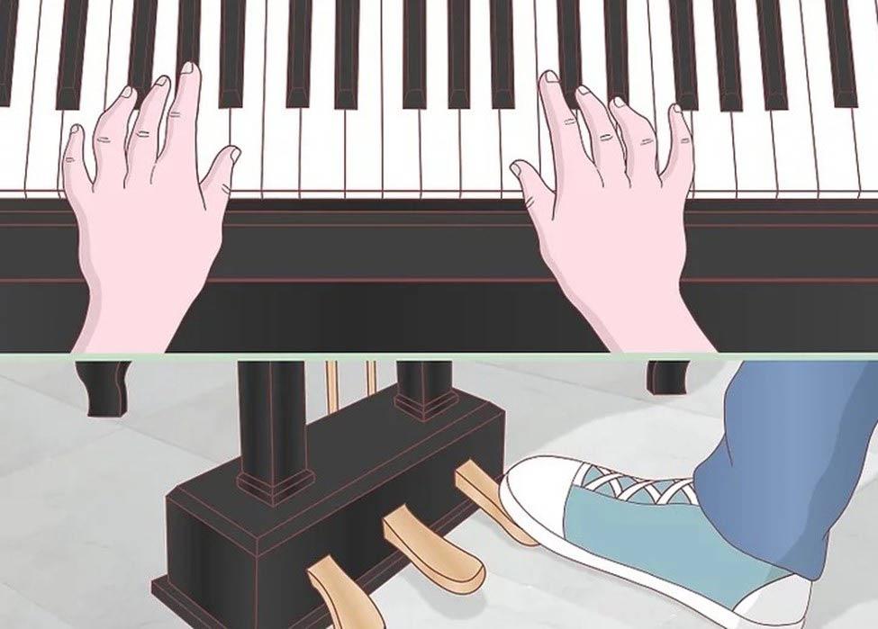 استفاده از پدال پیانوی پایی